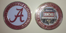 2012 BCS National Championship Painted Coin