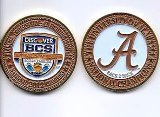 2013 BCS National Championship Painted Coin